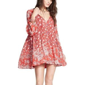 Free People Lucky Loosie Floral Tunic Dress XS